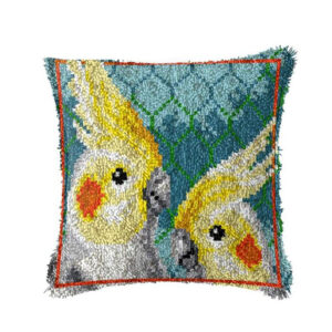 Crafting Kit COCKATIELS Latch Hook with Cushion Hook and Threads