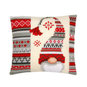 Crafting Kit GNOME Cross Stitch Cushion Inc Canvas and Thread