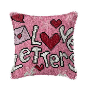 Crafting Kit LOVE LETTERS Latch Hook with Cushion Hook and Threads