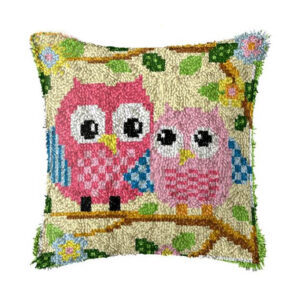 Crafting Kit OWLS Latch Hook with Cushion Hook and Threads