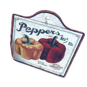 Country Farmhouse Resin Tile Trivet Peppers Hot Pot Holder