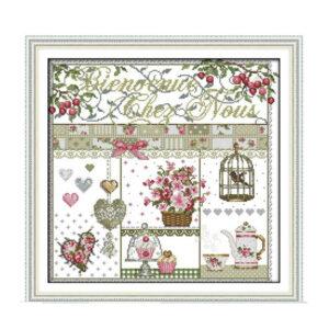 Cross Stitch Kit FRENCH HOME X Stitch Joy Sunday Designs Incl Threads