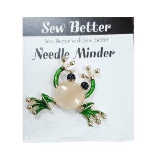 Sew Better Cross Stitch Needle Minder Keeper FROG