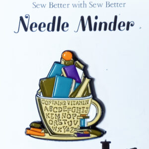Sew Better Cross Stitch Needle Minder Keeper Vitamins Cups of Books
