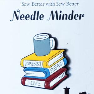 Sew Better Cross Stitch Needle Minder Keeper Drink Read Love Books