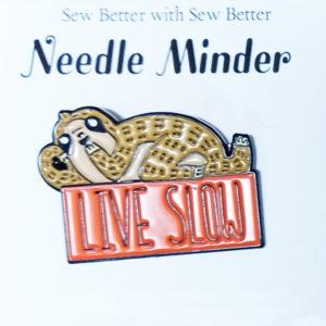 Sew Better Cross Stitch Needle Minder Keeper Sloth Live Slow