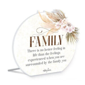 French Country Wooden Sign Bismark FAMILY NO BETTER FEELING Plaque
