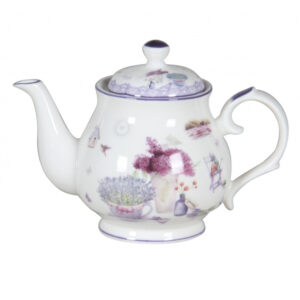 Elegant Kitchen Teapot Spring Lavender China Tea Pot 370ml Small
