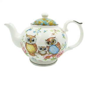 Elegant Kitchen Teapot Owls China Tea Pot 1 Litre Giftboxed