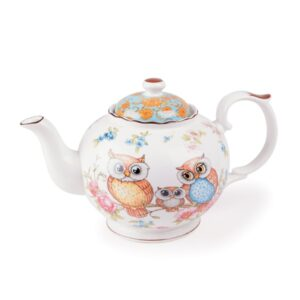 Elegant Kitchen Teapot Owls China Tea Pot 370ml Small Giftboxed