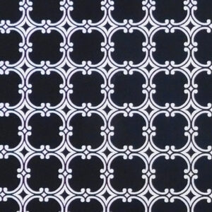 Patchwork Quilting Sewing Fabric Black and White Attract 50x55cm FQ