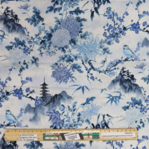 Patchwork Quilting Sewing Fabric Japanese Fuji Floral 50x55cm FQ