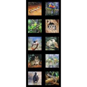 Patchwork Quilting Sewing Fabric Australian Animals 1 Panel 42x110cm