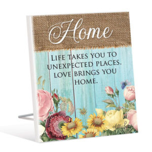 French Country Wooden Sign HEIRLOOM HOME Standing Plaque
