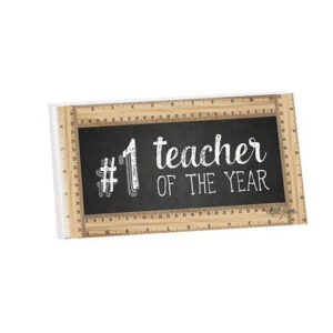 French Country Wooden Sign Teachers OF THE YEAR Hanging Plaque