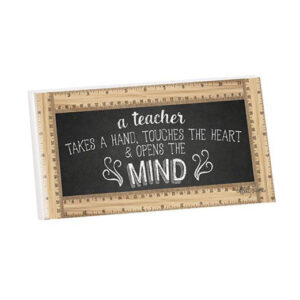 French Country Wooden Sign Teachers OPEN MINDS Hanging Plaque