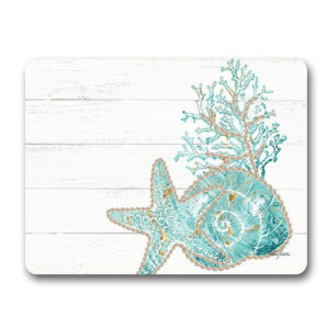 Country Kitchen Cork Backed Placemats AND Coasters REEF CORAL Set 6
