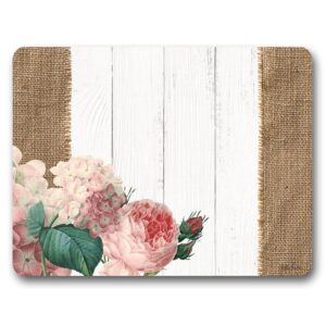 Kitchen Cork Backed Placemats AND Coasters HEIRLOOM FLORAL Set 6