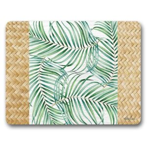 Country Kitchen Cork Backed Placemats AND Coasters HIBISCUS PALM Set 6