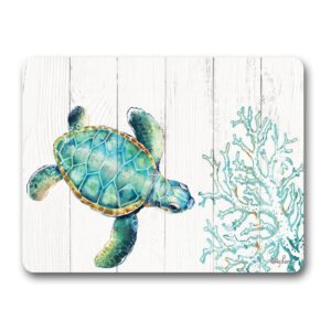 Country Kitchen Cork Backed Placemats AND Coasters TURTLE Set 6