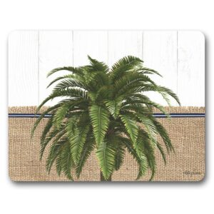 Country Kitchen Cork Backed Placemats AND Coasters OASIS PALM Set 6
