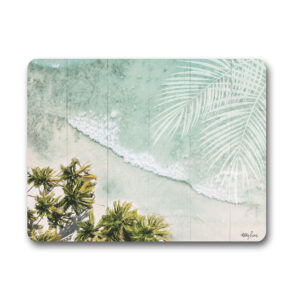 Kitchen Cork Backed Placemats AND Coasters OASIS BEACH Set 6
