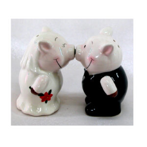 Collectable Novelty Kitchen Dining Kissing Pigs Salt and Pepper Set
