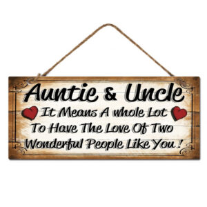 Country Metal Tin Sign Wall Art Auntie and Uncle Plaque