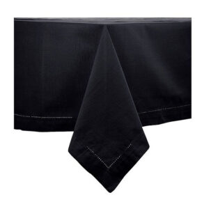 Country Table Cloth HEMSTITCH Tablecloth BLACK 150x230cm Rectangle