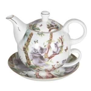 Elegant Kitchen China Teapot Australian Wildlife Tea For One Set