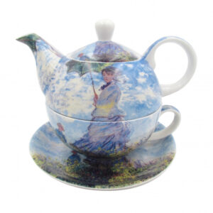 Elegant Kitchen China Teapot Monet Woman with Parasol Tea For One Set