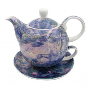 Elegant Kitchen China Teapot Monet Water Lilies Tea For One Set