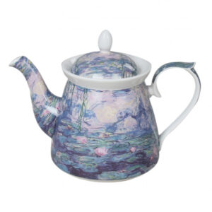 Elegant Kitchen Teapot Monet Water Lilies China Tea Pot 1 Litre Giftboxed