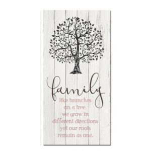 French Country Canvas Print Family Branches on Tree 40x80cm