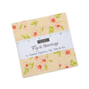 Quilting Charm Pack Patchwork Moda Figs and Shirtings 5 Inch Sewing Fabrics