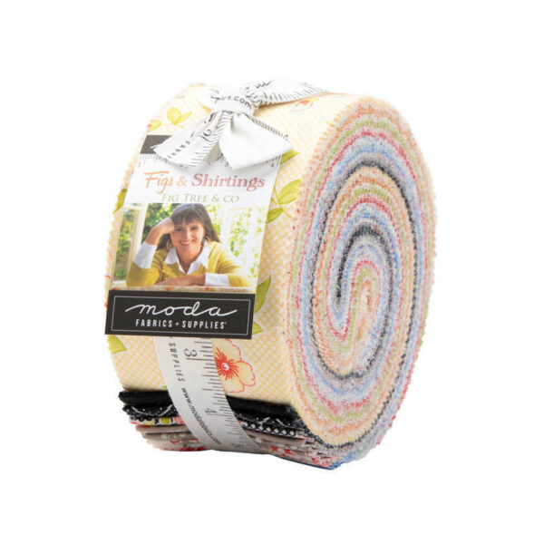 Quilting Jelly Roll Patchwork Moda Figs and Shirtings 2.5 Inch Sewing Fabrics