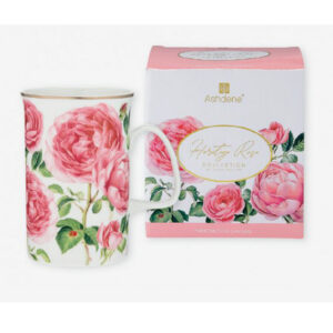 Elegant Kitchen Tea Coffee Heritage Rose Mug Cup with Giftbox
