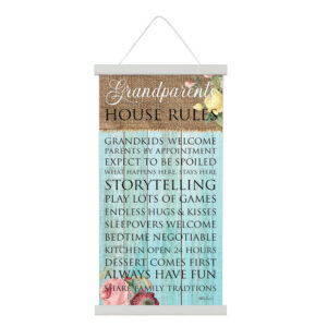 French Country Canvas Sign Heirloom GRANDPARENTS HOUSE RULES