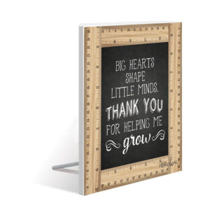 French Country Wooden Sign Teachers THANK YOU Standing Plaque