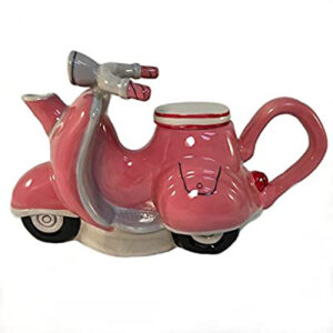 Collectable Novelty Kitchen Teapot Pink Vespa Blue Sky China Tea Pot