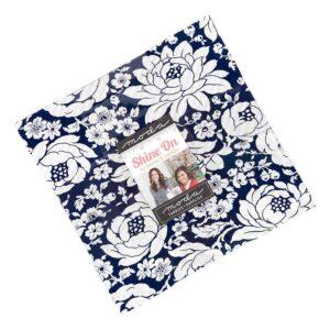Quilting LAYER CAKE Patchwork Moda Shine On 10 Inch Fabrics