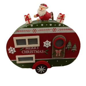 Christmas Santa Ornaments Xmas Caravan Merry Christmas