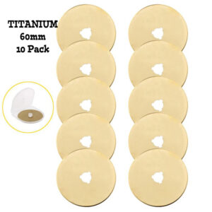 Sew Better Titanium Gold Set 10 Rotary Cutting Blades 60mm Fits All Brands