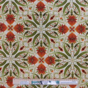 Quilting Patchwork Sewing Fabric Waratah Gum Leaves 50x55cm FQ Material