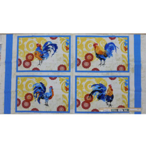 Patchwork Quilting Sewing Fabric Rooster Placemat Panel 60x110cm