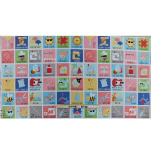 Patchwork Quilting Sewing Fabric Sew Chatty Squares Panel 61x110cm
