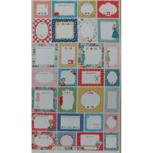 Patchwork Quilting Sewing Fabric Handmade By Quilt Labels Panel 63x110cm