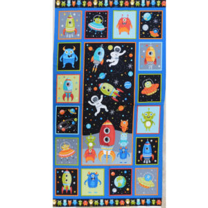Patchwork Quilting Sewing Fabric Outer Space Time Panel 58x110cm