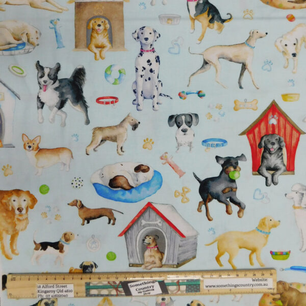 Quilting Patchwork Sewing Fabric Dogs Rule 50x55cm FQ Material