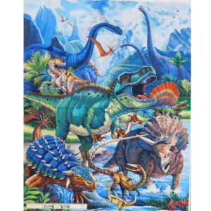 Patchwork Quilting Sewing Fabric Dinosaurs Panel 87x110cm